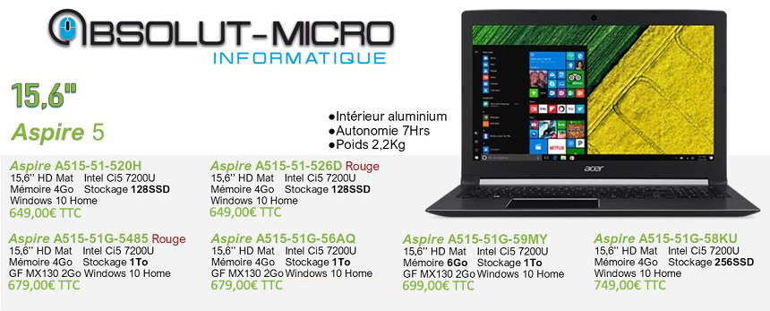 Portables angers absolut-micro informatique